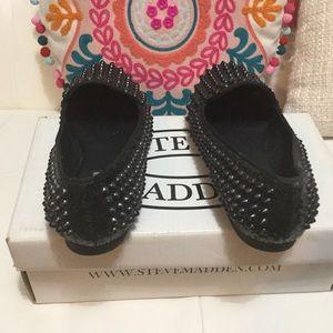 Steve Madden spike loafers